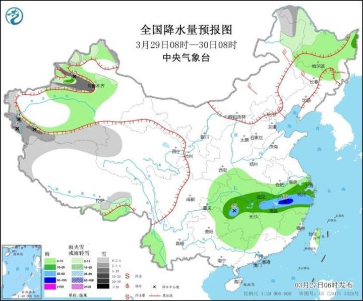 北方地区将有沙尘暴 江南等地有明显降水过程