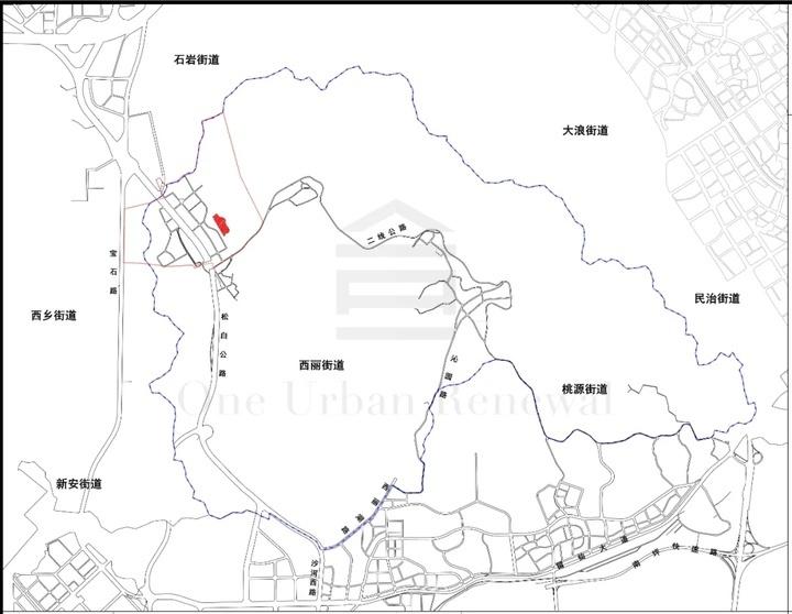 南山西丽百旺工业区土整规划公示:实施范围约3.6万㎡!