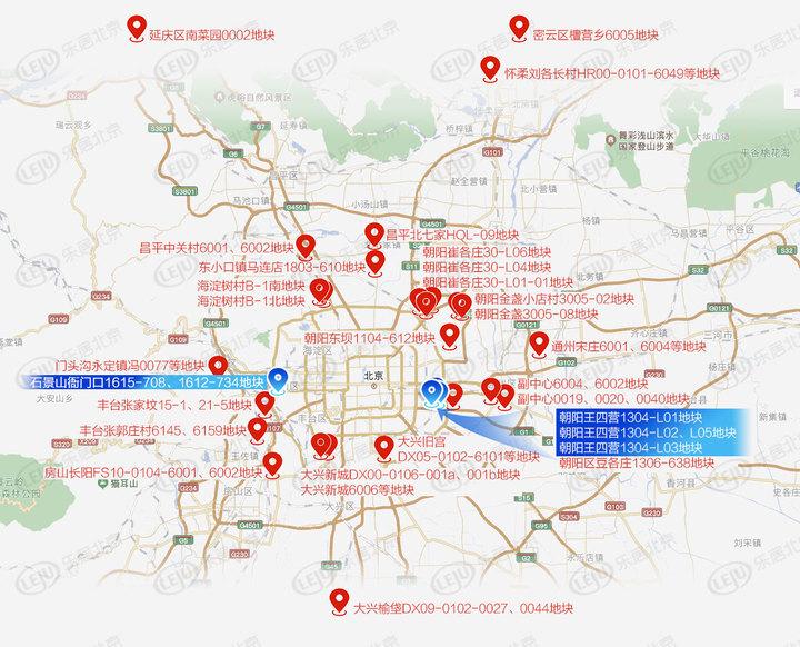 北京土拍三十战官宣:起拍超千亿、朝阳占比最多