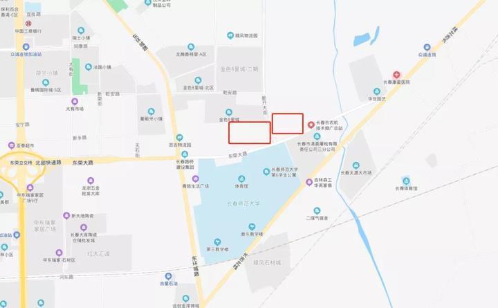 二道东荣大路旁将建设新学校