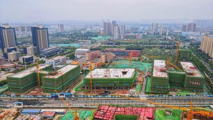 预计2022年秋季投用!合肥六中新校区6栋单体建筑封顶