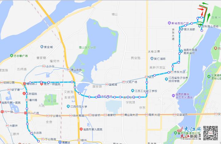 停运、改道、调整时间 南昌多条公交线路调整