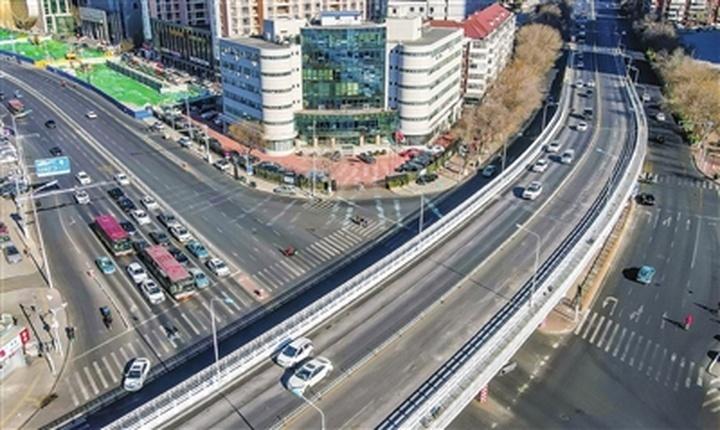 解放南路立交桥 整修工程基本完成