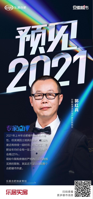 预见2021|郭红兵:合肥均价会有一定上调,但涨幅不超5%
