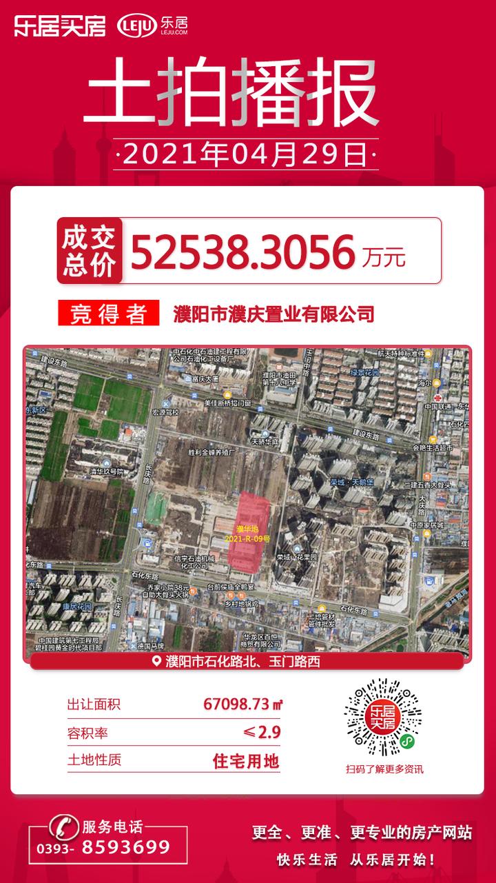 热烈祝贺明珠地产、碧桂园于今日上午竞得濮阳市区新地块!