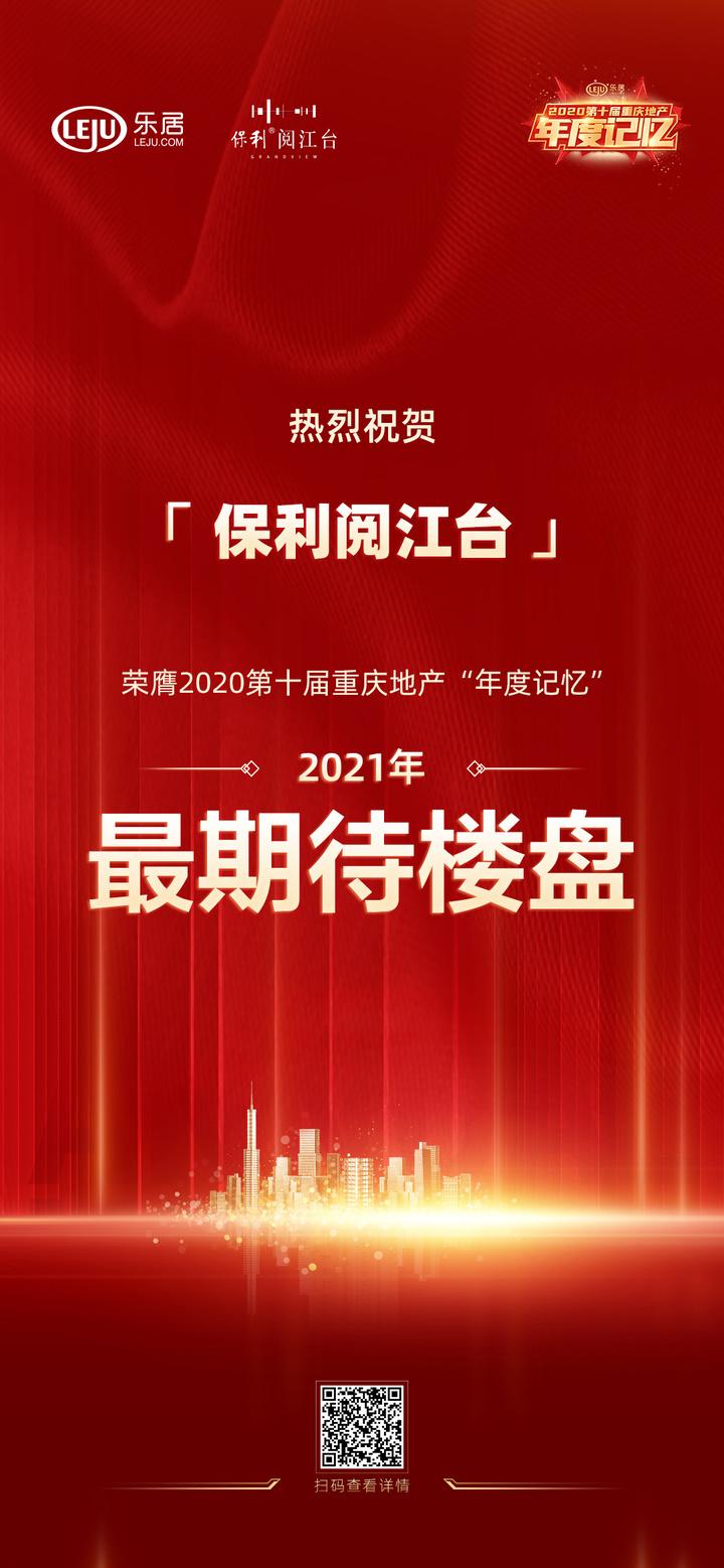 《【杏耀平台怎么注册】保利阅江台荣获2020重庆地产年度记忆「最期待楼盘」》