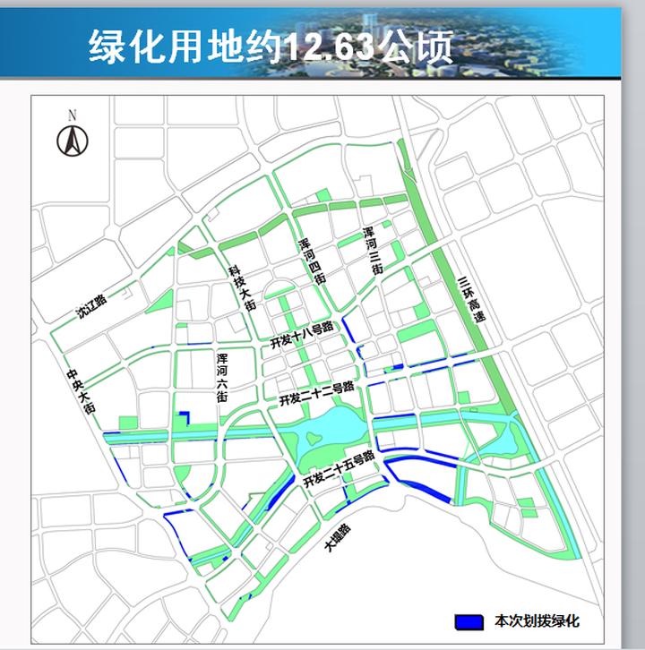 沈阳经开区宁官单元道路及绿化用地选址拟定 总计约25公顷