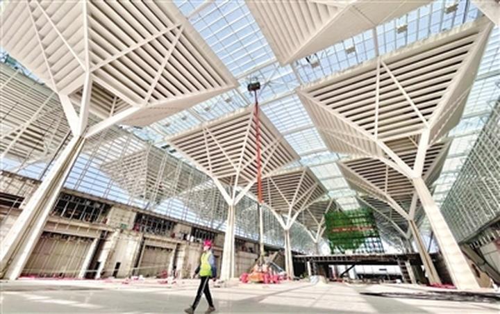 国家会展中心建设加快推进 一期工程进行收尾工作