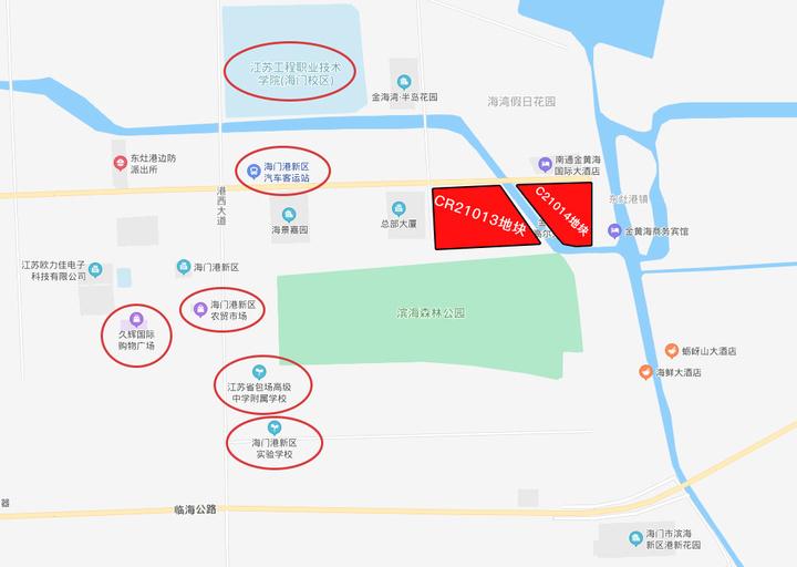 通港置业喜提211亩优质地块,海门港新区迎来大型商业及四星级酒店
