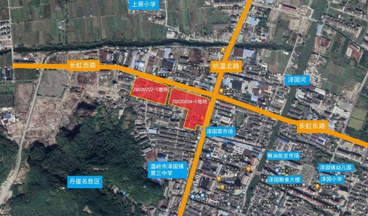 景威9500万元竞得温岭市泽国镇杭温路西侧、长虹路南侧商住地块