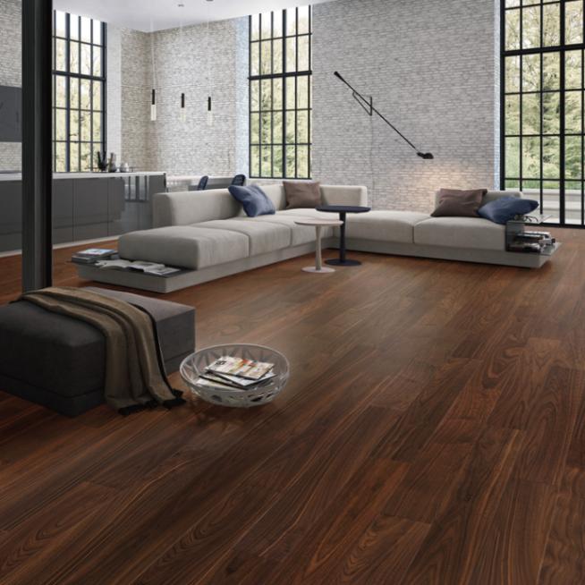黑胡桃多层实木地板