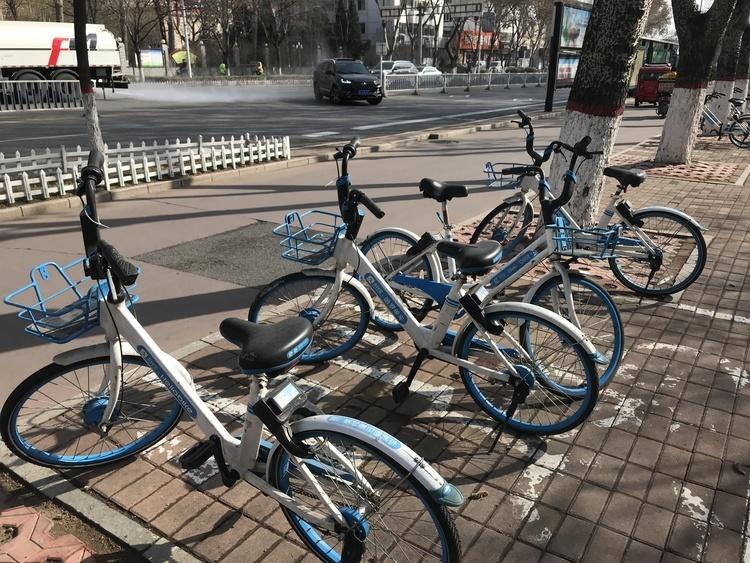 """郑州共享单车停车难:骑到家门口发现还要折回地铁站找""""p点"""""""