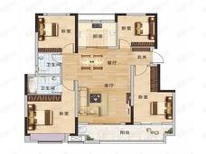 现代森林国际城4室2厅2卫户型图