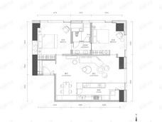 新光大中心ArtPark92室1厅1卫户型图
