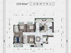 大唐新希望臻园5室2厅2卫户型图