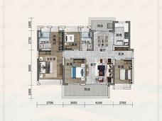 金融街金悦府(顺德)4室2厅2卫户型图