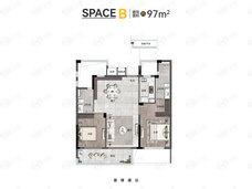 之彩城2室2厅2卫户型图