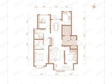融创翡丽壹號3室2厅2卫户型图