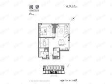 欢乐滨江华寓1室1厅1卫户型图