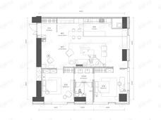 新光大中心ArtPark92室2厅1卫户型图