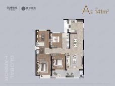 环球港湾4室2厅2卫户型图