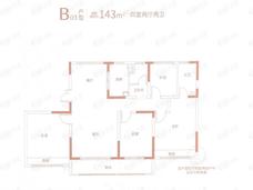 紫金悦峯4室2厅2卫户型图