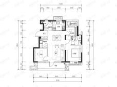 路劲御和府3室2厅2卫户型图