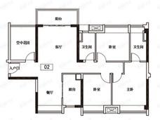 保利紫山4室2厅2卫户型图