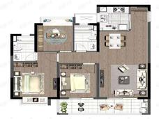 德信星宸3室2厅2卫户型图
