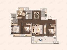 保利堂悦4室2厅2卫户型图
