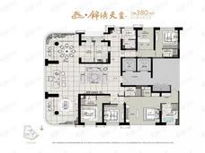 中冶锦绣天玺5室2厅5卫户型图
