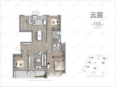 景业龙光玖云府4室2厅2卫户型图