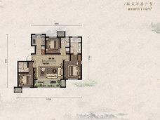首创住总禧瑞金海3室2厅2卫户型图
