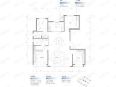 保利•锦上4室2厅2卫户型图