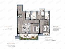 联发美的悦玺台3室2厅2卫户型图