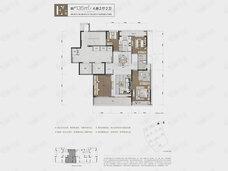 潮听明月公寓4室2厅2卫户型图