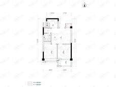 桃语春福里2室2厅1卫户型图