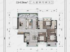 大唐新希望臻园4室2厅2卫户型图