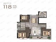 钟山峰景3室2厅2卫户型图