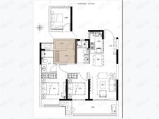 保利天汇3室2厅1卫户型图