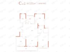 紫金悦峯3室2厅2卫户型图