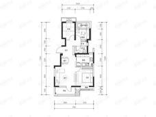 路劲御和府3室2厅1卫户型图
