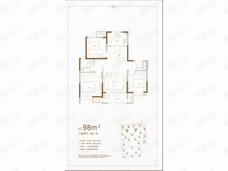 红星城市广场3室2厅1卫户型图