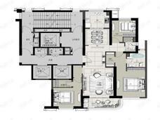 中冶锦绣天玺3室2厅2卫户型图