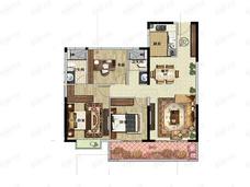 翰文九万里3室2厅2卫户型图