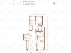 金融街武夷融御3室2厅2卫户型图