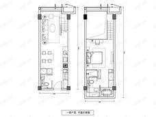 镜象西湖1室1厅2卫户型图