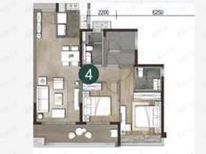 保利天珺3室2厅2卫户型图