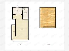 郑州永威城1室1厅1卫户型图