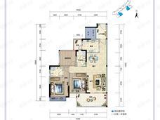 富力湾2室2厅2卫户型图